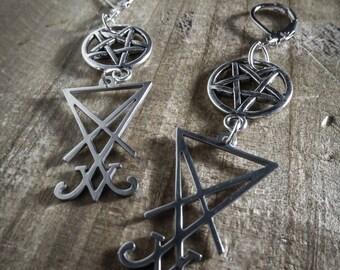 Lucifer 666 666 Silver earrings