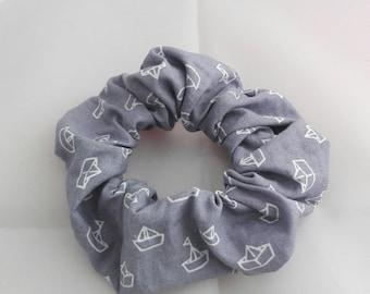 Pretty scrunchie origami boat