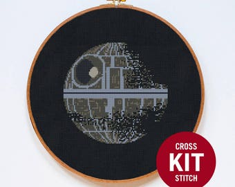 Death Star II Cross Stitch KIT, Star Wars Cross Stitch Kit,  StarWars Cross Stitch KIT, Counted Cross Stitch Pattern Instructions