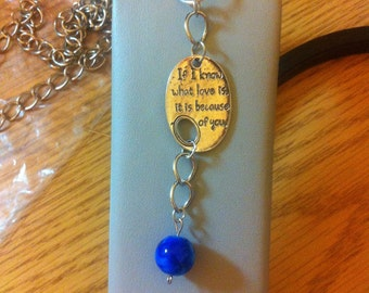 SALE**** If I know what love is keychain - blue