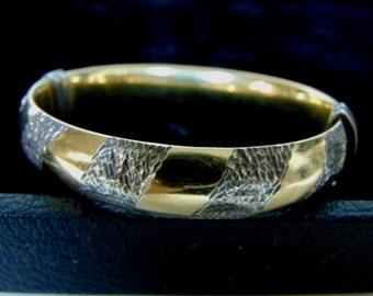 Vintage Estate Sterling Silver Gold Plated Bracelet  19.7g E924