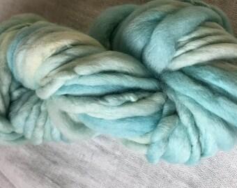 Ice Blue  Mini Hank Merino Chunky Yarn