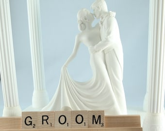 GROOM Scrabble Letters Sign RECYCLED