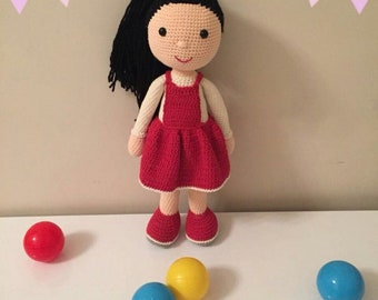 Amigurimi, Baby doll, best gift for daughter,