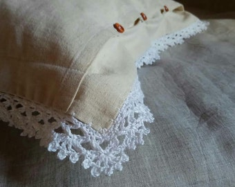 pillow case knitted lace pillowcase  decorative pillow case baby linen pillow slip  for a bedroom eco-friendly