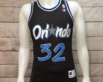 Vintage NBA Basketball Orlando Magic Shaquille O'neal Shaq Champion Jersey Size Mens Small