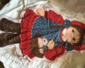 2 Pillow Dolls, cut but not sewn. Dolls have Old a Fashioned Styling.