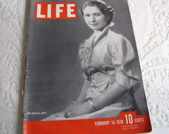 Life Magazines 1938 February 14 The Queen of Egypt Vintage Magazines and Advertising