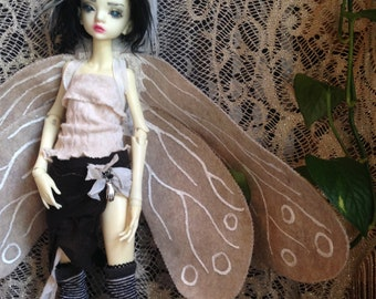 Moth Wings for MSD BJD (and other dolls)