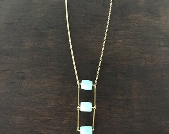 Amazonite ladder necklace