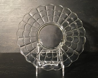 Vintage Clear Glass Serving Dish
