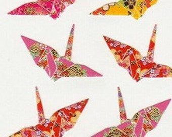 Japanese Stickers - Washi Crane Stickers - Origami Stickers - Reference A5817-21A6669-78