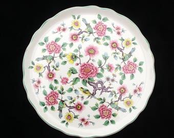 Beautiful James Kent Old Foley Chinese Rose Cake Plate 10.75 inches