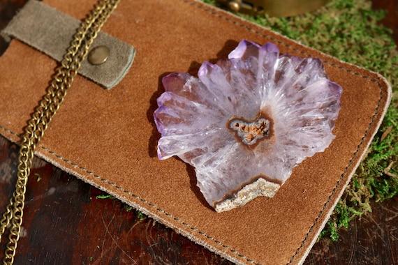 Large Amethyst Stalactite, Stalactite Slice, Crystal Flower, Amethyst Slice, Raw Amethyst, Druzy Stalactite, Spirt Quartz, DIY, Bohemian