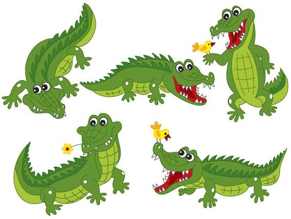Krokodil Clipart digitale Vektor Krokodil Afrika Safari - photo#24