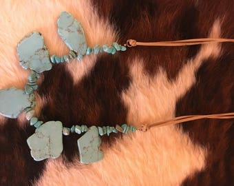 Custom Cowgirl Turquoise Necklace