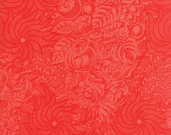 Fig Tree Fabric - Hazel and Plum - Red Fig Tree Quilt Fabric - Red Tonal Quilting Fabric By The 1/2 Yard