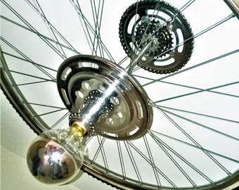 Handmade from reclaimed vintage bicycle  parts.