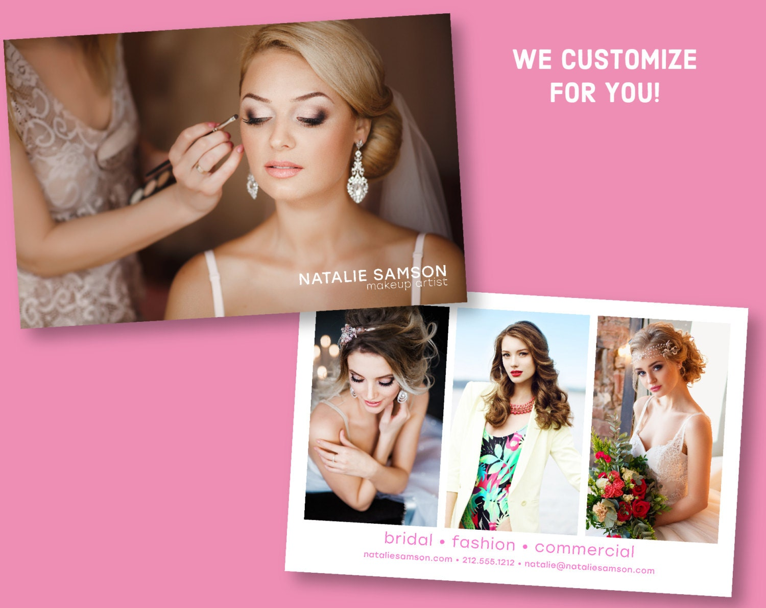 Custom makeup artist comp card make up artistry sed card sold by rsvprintables reheart Gallery