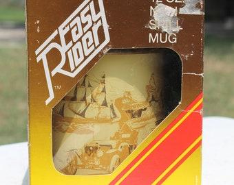 Vintage Easy Rider Non Spill Mug Transportation Theme Graphics