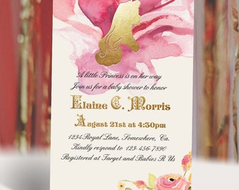 Princess Aurora Sleeping Beauty Baby Shower Invitation | Bridal Shower Invitation | Digital Printable Invitation