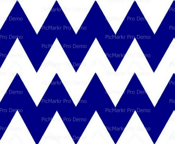 "Navy Blue 4"" - Chevron Birthday Background - Designer Strips - Edible Cake Side Toppers- Decorate The Sides of Your Cake! - D10037"