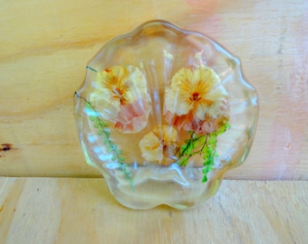 Vintage soap dish lucite bathroom decor