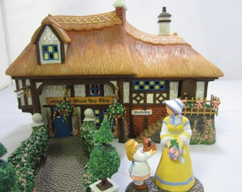 Department 56 Alderburgh Music Box Shop Gift Set Limited Edition