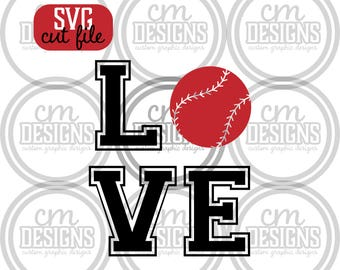 Love Baseball/Softball, SVG
