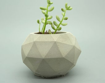 Concrete Planters Pots Geometric Planter with Succulent Plant Gift idea Home Decor