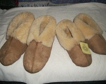 Sheepskin Slippers MEN XL Shoe  Size 12 - 13  NWT