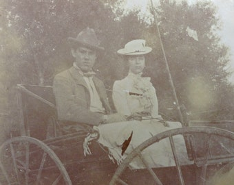 Courting Couple Vintage Photo