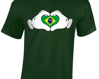 Love Brazil Road To World Cup Children's T-Shirt Youth Football