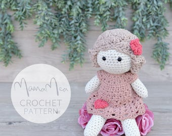 Crochet Doll Pattern | Mea | MamaMea Patterns