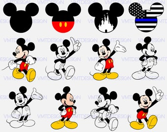 Mickey svg - Mickey Head svg - Mickey Mouse vector - Mickey Head digital clipart for Design or more, files download eps, svg, png, jpg