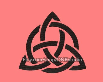 Triquetra Trinity Embroidery Design - 6 Sizes - INSTANT DOWNLOAD