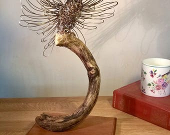 Showing Off - Bird Wire Sculpture