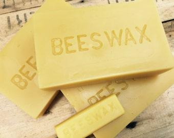 Natural Yellow Beeswax Block 1 lb.
