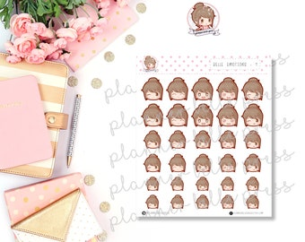 Belle Emotions: 1 || Stationary Stickers, Planner Stickers