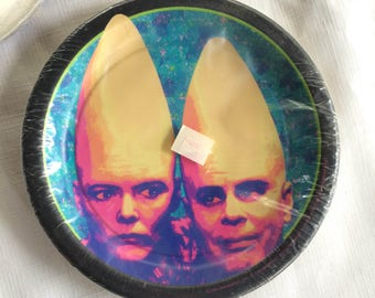Conehead,Comedy Collectible,Novelty Party,Comedy Plate,Comedy Party,Alien Ephemera,Sci Fi Birthday,Sci Fi Plate,Dan Aykroyd,Comedy Ephemera,
