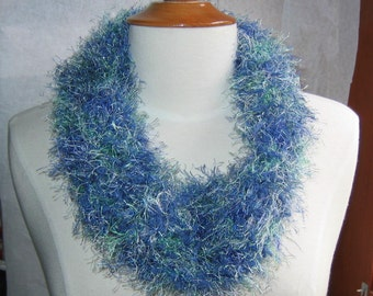 Caribbean and Denim Blues Neck Warmer Cowl