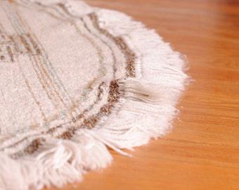 Tapis en laine/Tapis vintage/tapis tissé/tapis rond/tapis chambre