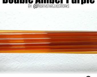 Double Amber Purple 1st Quality Rods by Northstar Glassworks