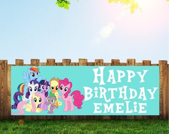 My Little Pony Banner Birthday Party Happy Decoration