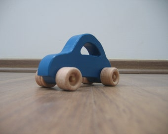 Blue little wood toy car