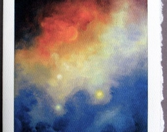 Art Card Greeting Cards Blank card, Greeting Cards, Outer Space, Fine Art cards, Space