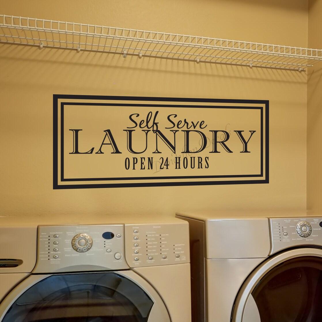 Vinyl Lettering Laundry Room Decor Self Service Landry