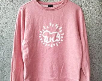 Vintage Keith Haring sweatshirt pop art design jumper