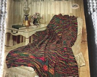 The Workbasket and home arts magazine - Vintage craft magazine - vintage 1967 - collectable - crafting and home decor