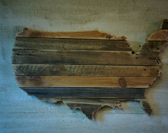 United States of America - Reclaimed Wood Cutout